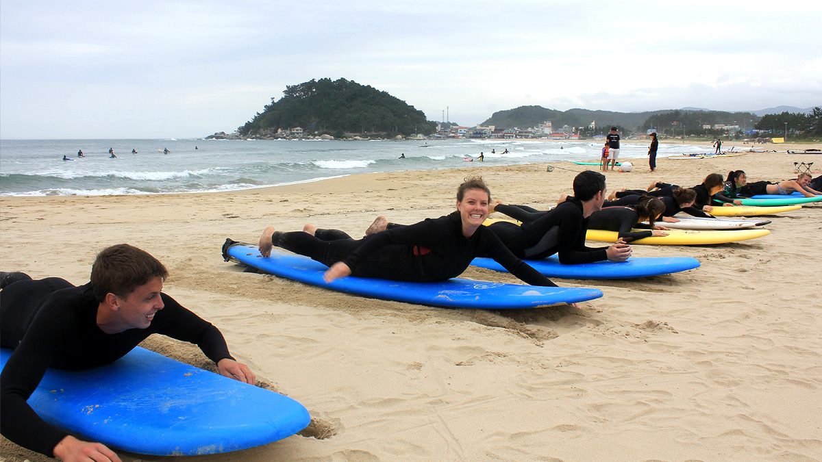 Surfing Beach & Seoraksan National Park